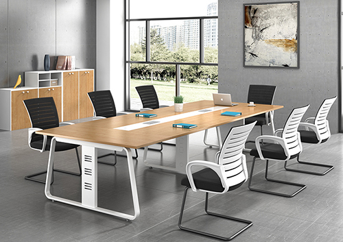 会议办公桌(上小下大脚架)