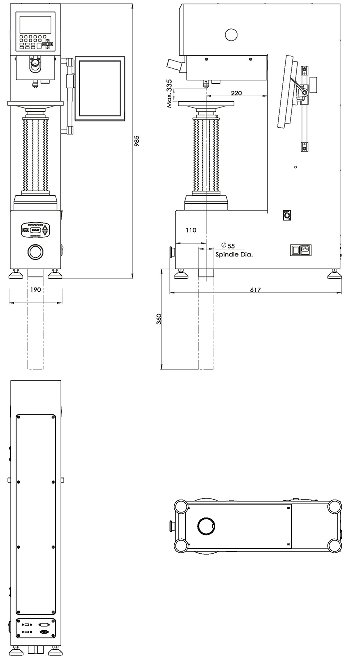 NEXUS 3001XLM-IMP尺寸