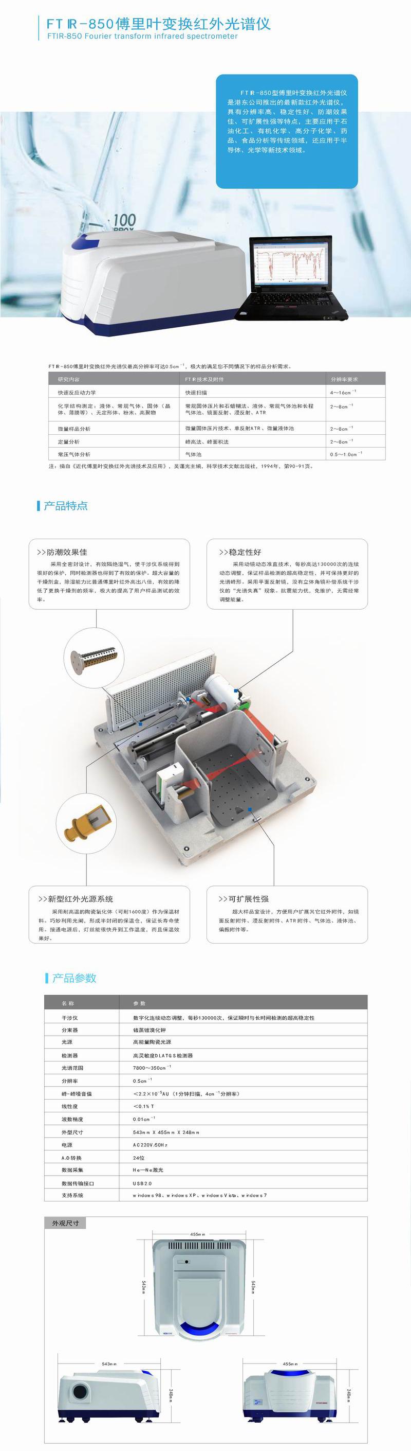 FTIR-850傅里叶变换红外光谱仪简介