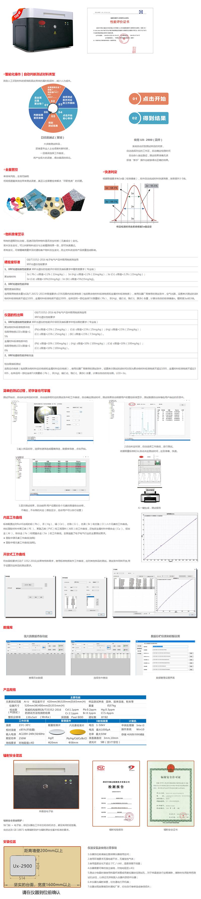 Ux-2900能量色散型X射线荧光分析仪(专业级)