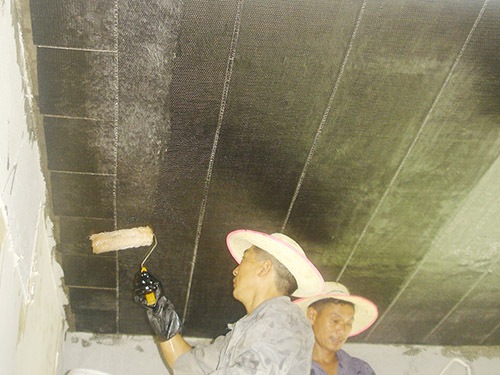 高埗唯美陶瓷集团板底碳纤维加固施工