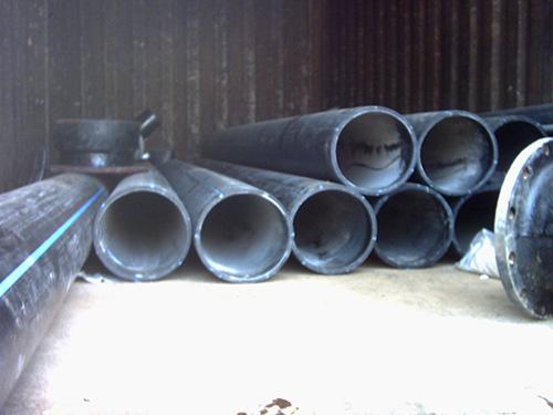 PE水管施工现场