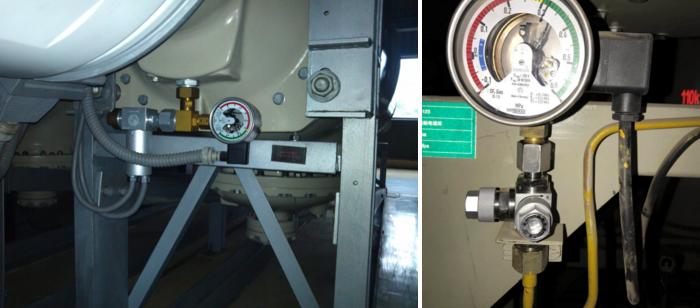 SF6密度继电器三通阀接头安装现场