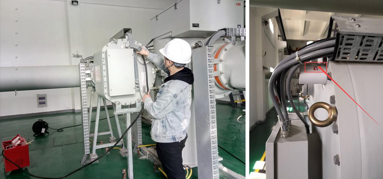 SF6定量检漏仪检测到漏气点