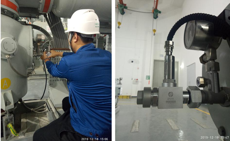 六氟化硫密度微水在线监测装置应用现场