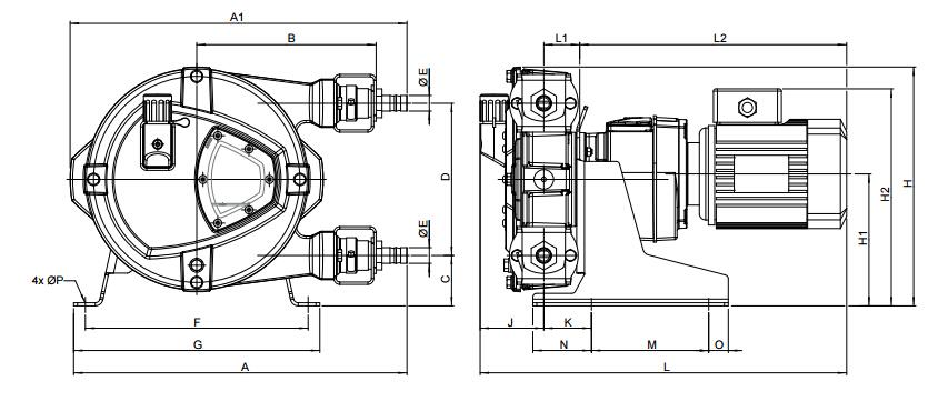 Bredel10软管泵尺寸
