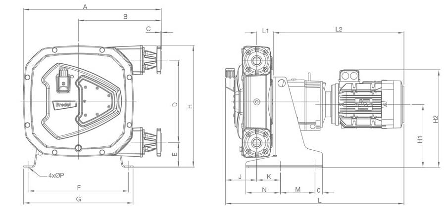 Bredel Apex 10 / Apex 15 / Apex 20 尺寸