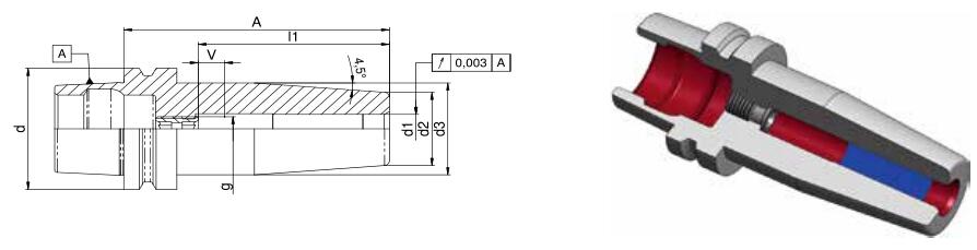 Diebold HSK ShrinkFit卡盘72.556.500.103