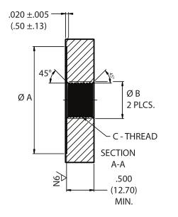 Glenair高压干式隔板连接器插座G55 07系列尺寸图