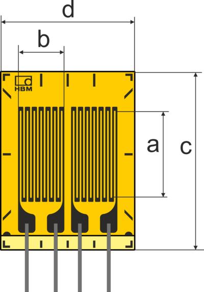 HBM DY1带引线的标准应变计