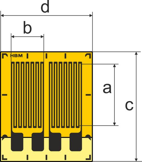 HBM DY4带焊片的标准应变计
