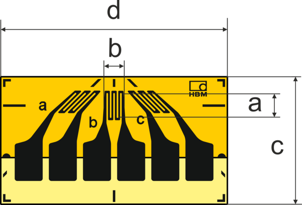 HBM RY8带焊片的矩形应变计