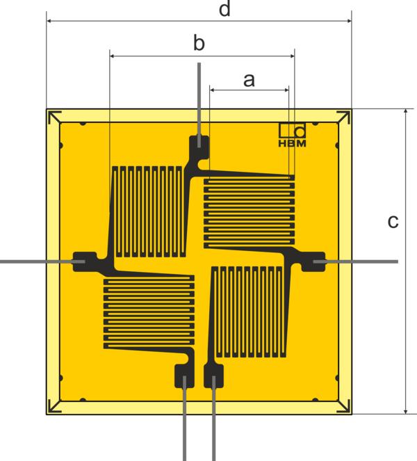 HBM VY1 T型全桥应变片带引线