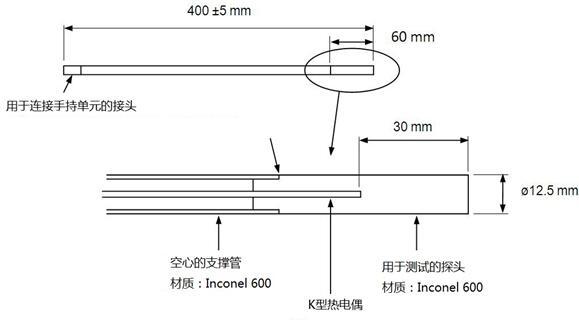 IVF冷却特性测试仪探棒组成