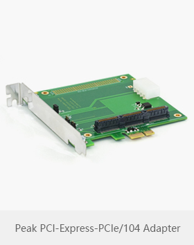 Peak system PCI-Express-PCIe/104 Adapter