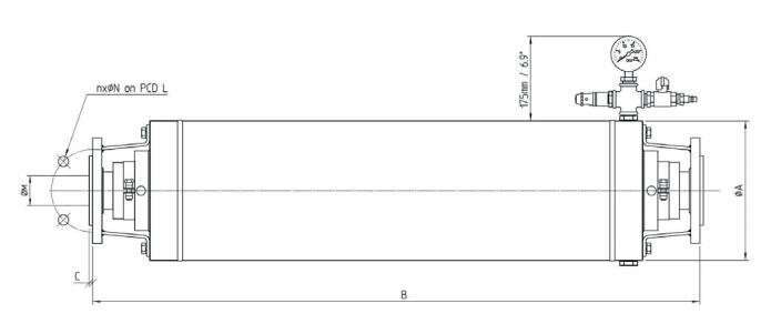 Bredel脉冲阻尼器尺寸