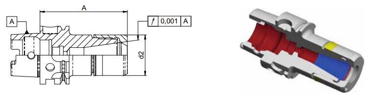 Diebold CentroGrip? HSK-A DIN69893标准