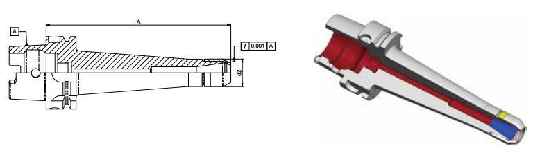 Diebold CentroGrip? HSK-A DIN69893标准长版
