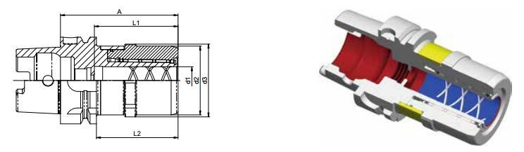 Diebold UltraGrip? HSK-Form A DIN69893