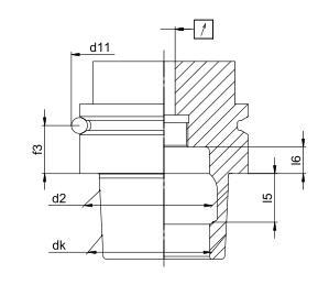 HSK刀柄用V型法兰槽检测装置检测尺寸