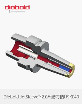 德国Diebold JetSleeve™2.0热缩刀柄HSKE40端面环喷金环热胀刀柄