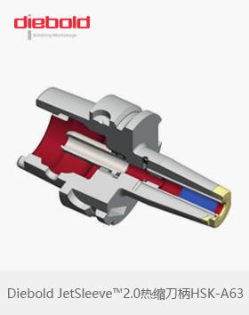 德国Diebold HSKA63热缩刀柄JetSleeve™2.0端面环喷冷却金环刀柄