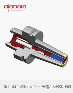 德国Diebold HSKF63热胀刀柄JetSleeve™2.0端面环喷冷却金环热缩刀柄