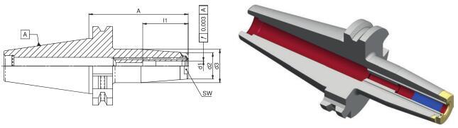 德国Diebold JetSleeve2.0 SK40高性能端面环喷热缩刀柄
