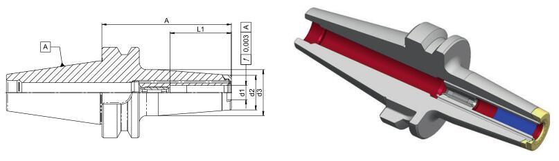 德国Diebold JetSleeve2.0 D-BT40/BBT40高性能端面环喷热缩刀柄