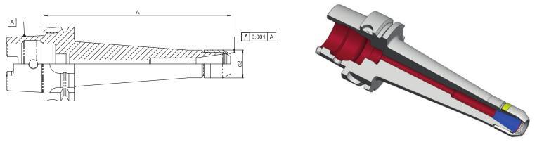 德国Diebold CentroGrip? HSK63-A DIN69893高精度筒夹刀柄加长版