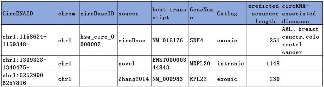 环状RNA的识别与注释