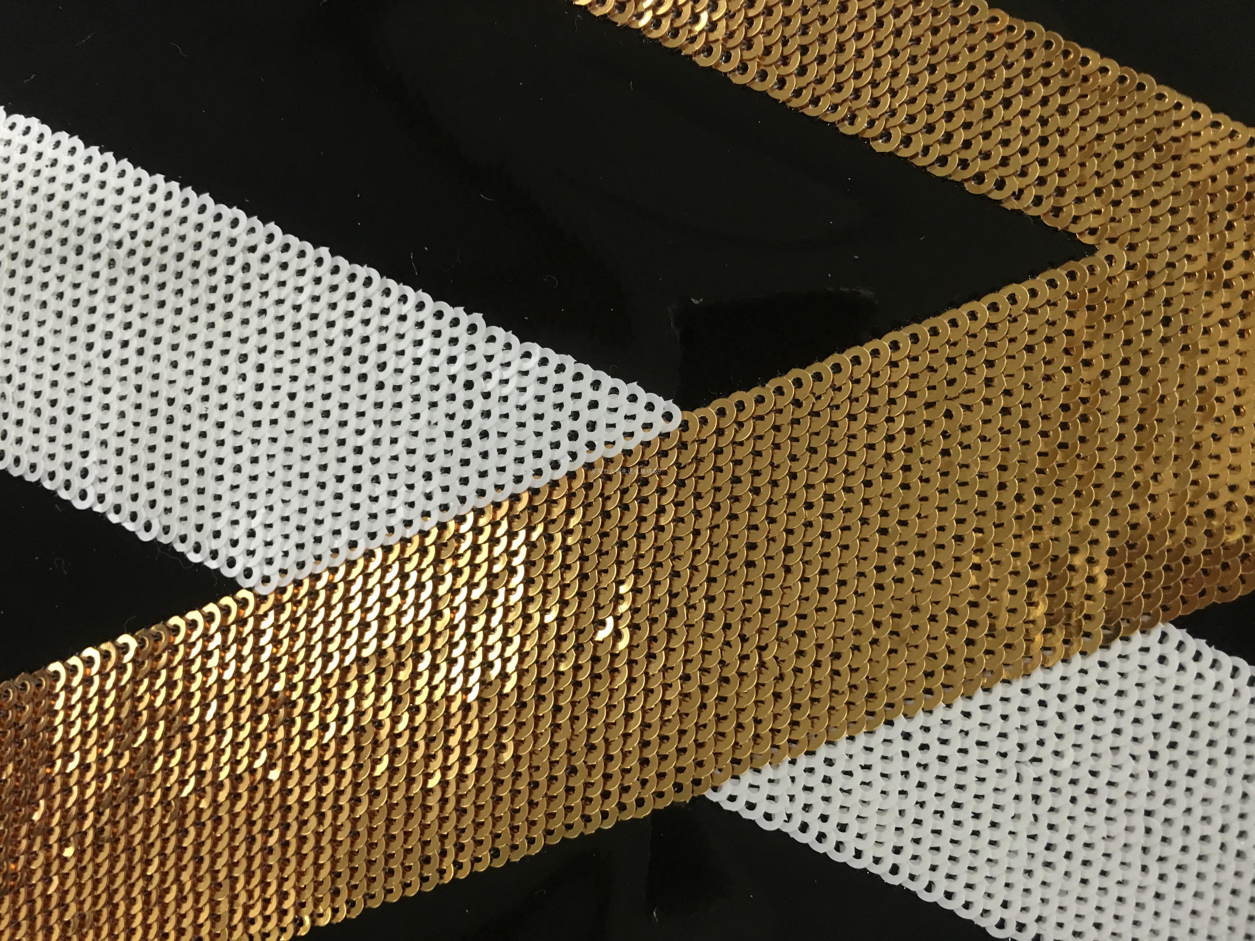进口2厘珠片绣 电脑绣