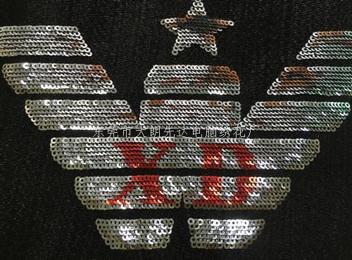 珠片绣 2厘 服装绣 特种绣 电脑绣花