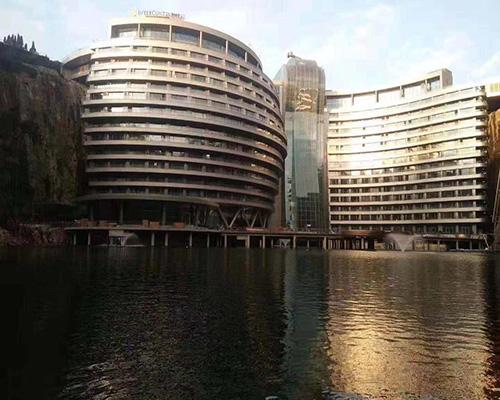 上海深坑酒店屏幕玻璃