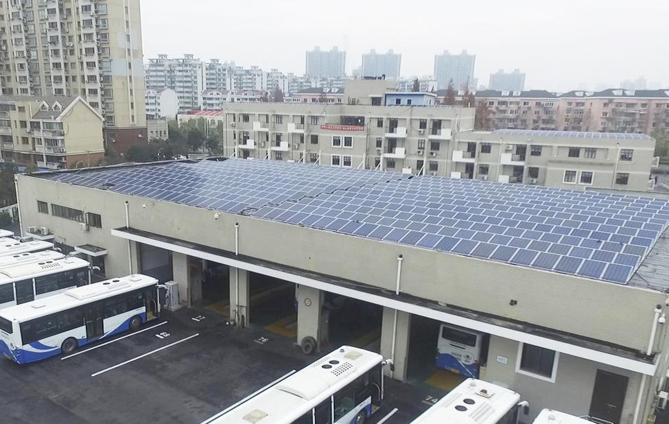 光伏發電公交車站