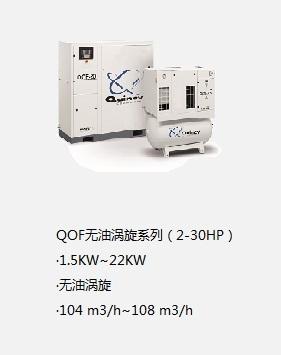 昆西無油渦旋空壓機QOF系列(2-30HP)