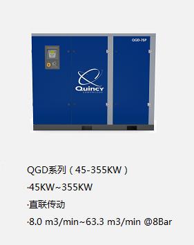 昆西空壓機QGD系列(45-355KW)