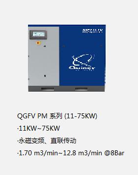 昆西永磁变频空压机QGFV PM 系列(11-75KW)