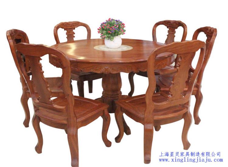 酒店餐厅实木餐桌餐椅