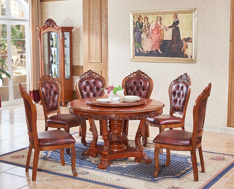 欧式酒店实木圆桌