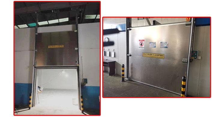 上海加和门业 不锈钢垂直提升门厂家定制