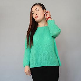 绿色女款羊绒衫