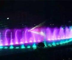 四川大竹白塔水街水舞水秀