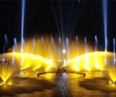 云南丘北普者黑音乐喷泉实景