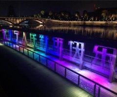 遂寧聯盟河兩岸照明及光影藝術工程二期數字水簾