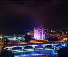 四川宣漢巴山大峽谷燈光水舞秀