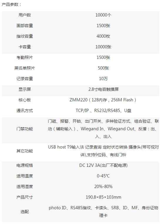 TA1200产品参数