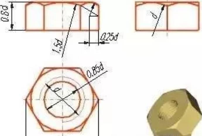 六角螺母CAD图-无锡晋德
