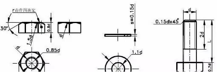 六角螺母画法-无锡晋德