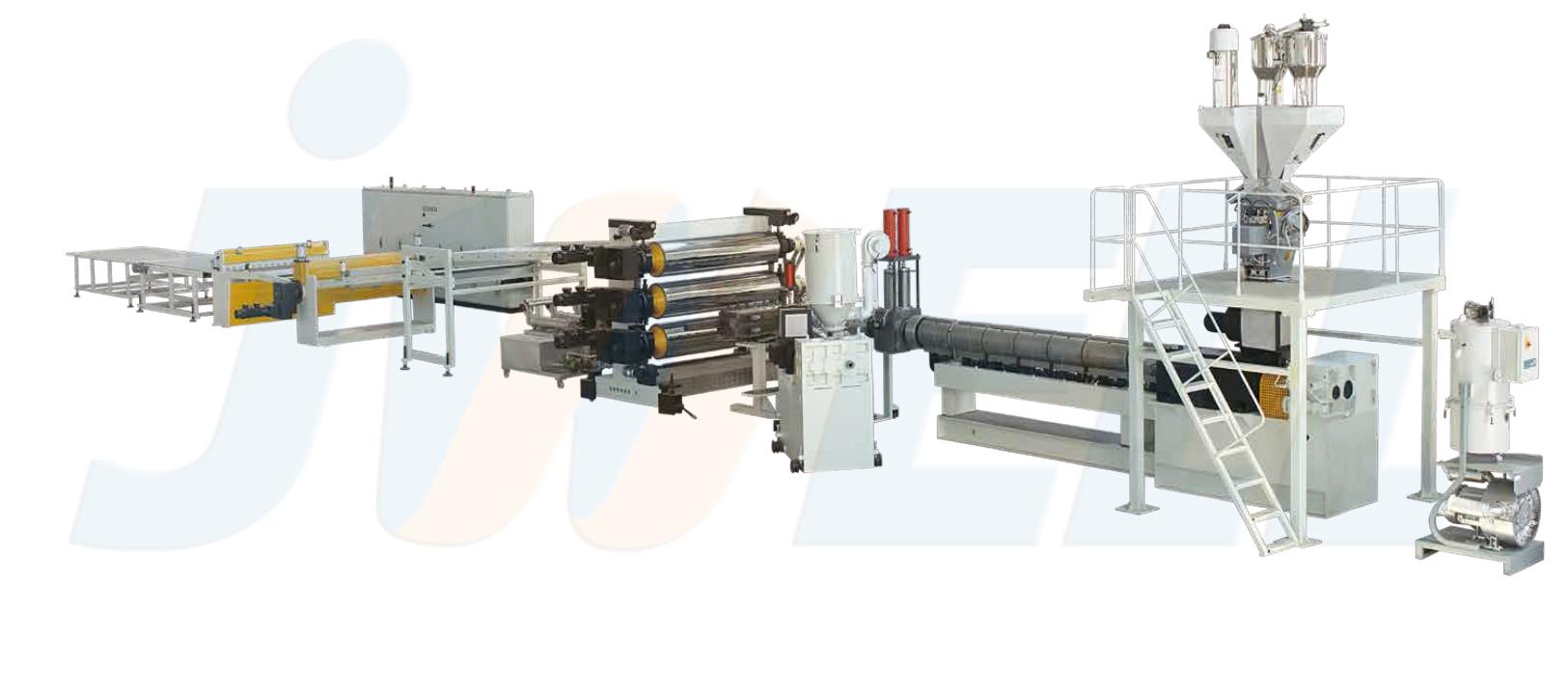 ABS/HIPS单层、多层板材生产线